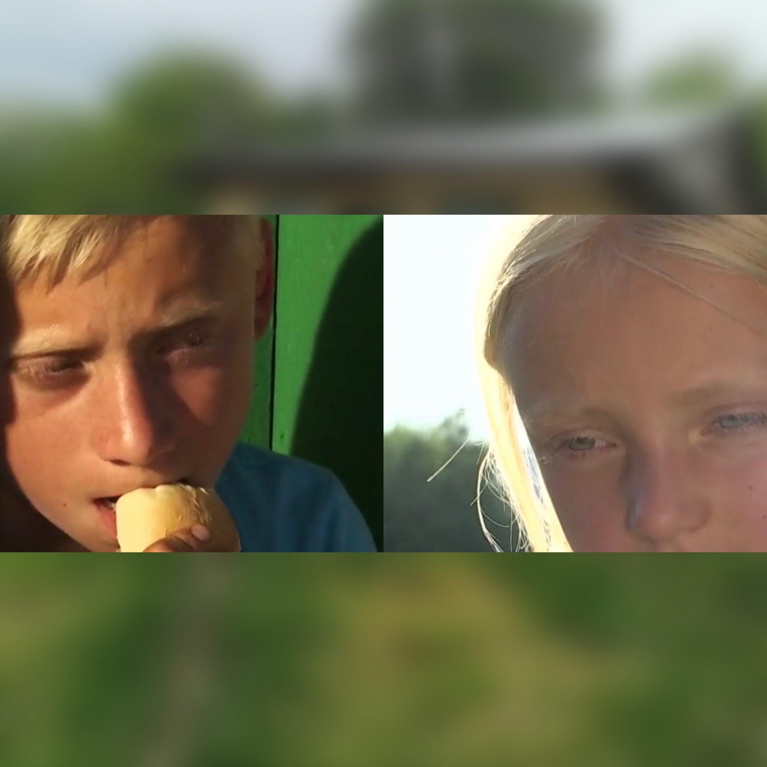 Doi copii parasiti de mama se roaga zilnic sa aiba ce manca